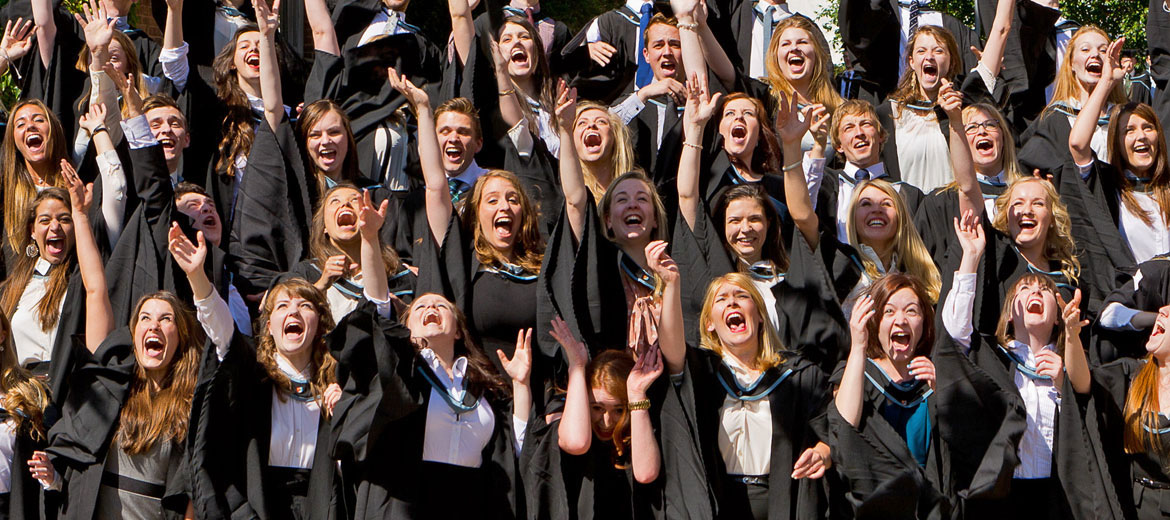 Drama mortar boards in air!