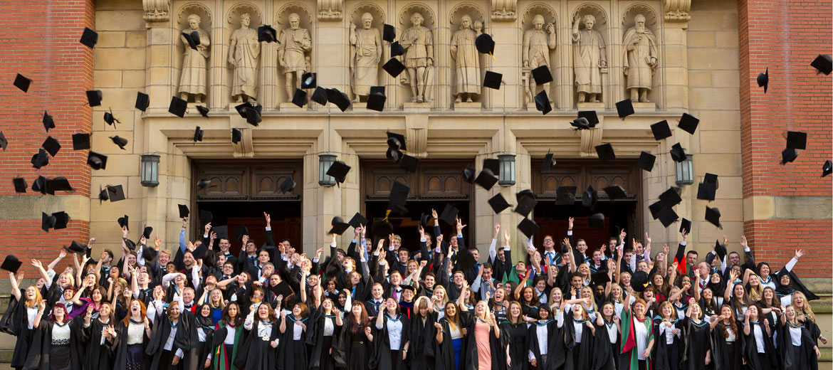 Mortar boards in the air!
